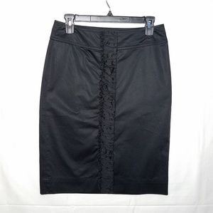 Talbots Black Rouched Front Skirt Size 2